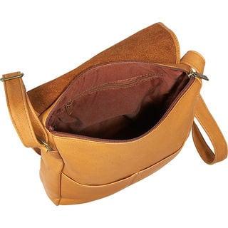 LeDonne Leather Over-shoulder Vertical Flap Bag