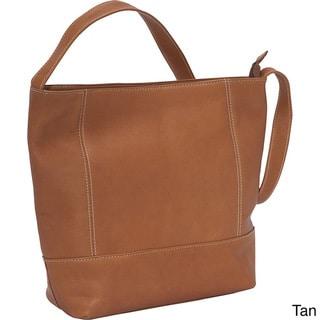 LeDonne Women's Full-grain Cowhide Leather Everyday Shoulder Bag