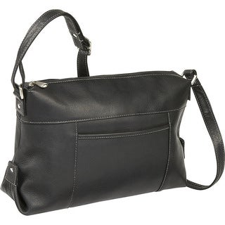 LeDonne Leather Top Zip Front Slip Shoulder Bag