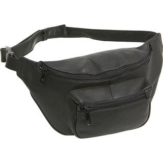 LeDonne Black Leather Fanny Pack