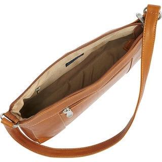 LeDonne Ava Black/Tan/Brown Leather Shoulder Bag