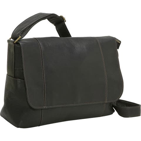 LeDonne Leather Flap-over Leather Shoulder Bag