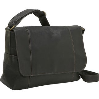 LeDonne Flap-over Leather Shoulder Bag