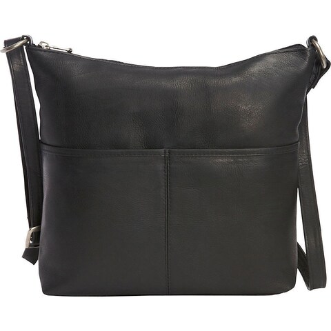 LeDonne Leather Carefree Top-zip Shoulder Bag