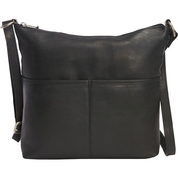 Shop LeDonne Leather Carefree Top-zip Shoulder Bag - On Sale - Free ... 4c723a17cefc2