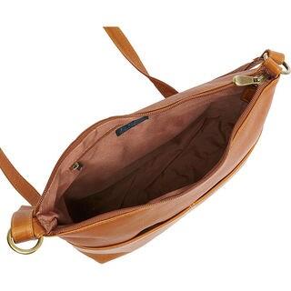 LeDonne Leather Carefree Top-zip Shoulder Bag