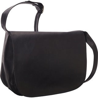 LeDonne Classic Full Flap Leather Shoulder Bag