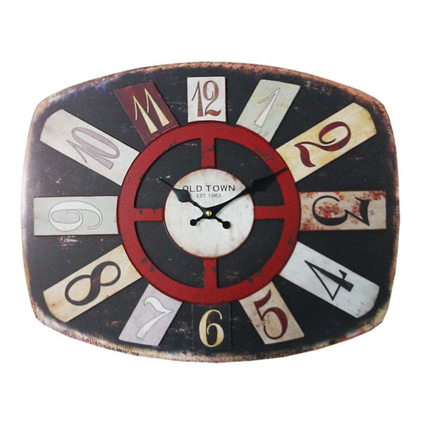 Stylishly Carved Stunning Wooden Wall Clock By Entrada
