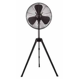 Hunter 16-inch Onyx Copper Retro Tripod Stand Fan with Black Finish