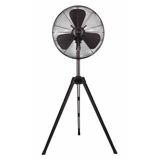 Hunter 16-inch Onyx Finish Onyx Copper Retro Tripod Stand Fan