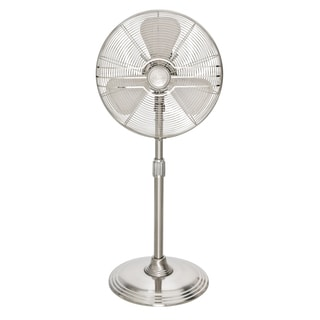 Hunter 90438 16-inch Adjustable Height Oscillating RETRO Brushed Nickel Stand Fan
