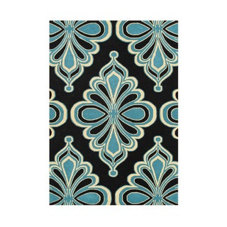 The Alliyah Contemporary Arabesque Timeless Traditional Design Blue Wool Rug (5x8)