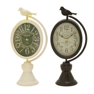 Chic Metal Table Clock Assorted 2