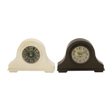 Copper Grove Star Metal Assorted Table Clock