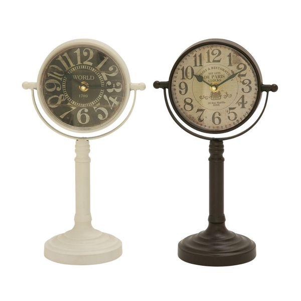 Attractive Metal Table Clock Assorted 2