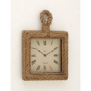 Simply Stylish Wood Rope Wall Clock