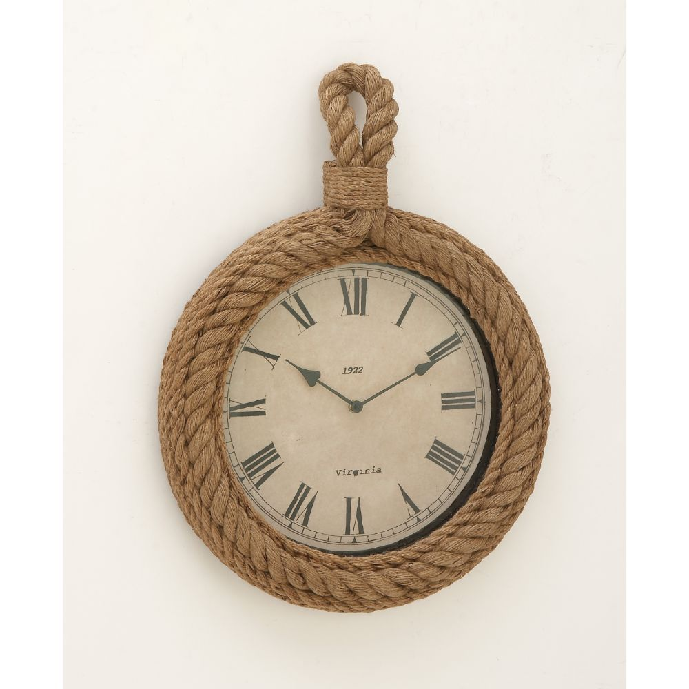 Distinctive Wood Rope Wall Clock