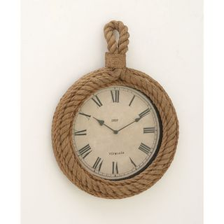 Distinctive Wood Rope Wall Clock - Thumbnail 0