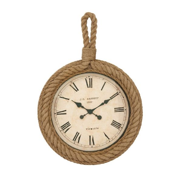 Unique Wood Rope Wall Clock Free Shipping Today