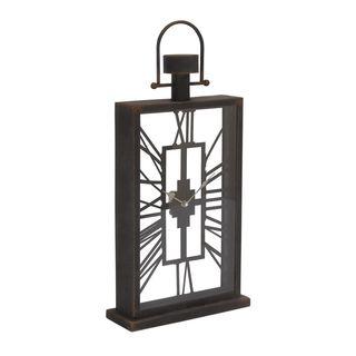 Trendy Metal Glass Table Clock