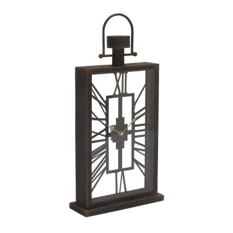 Trendy Metal Glass Table Clock