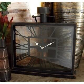 Stylish Metal Glass Table Clock