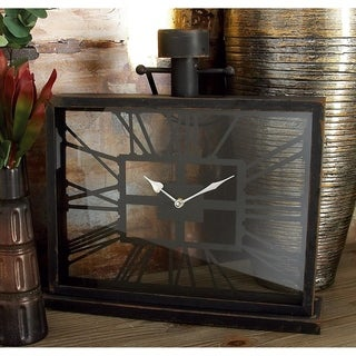 Link to Stylish Metal Glass Table Clock Similar Items in Decorative Accessories