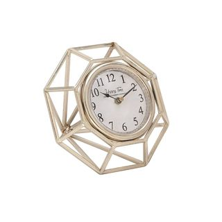 Silver Orchid Grant Octagonal Metal Table Clock