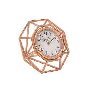 Creative Metal Table Clock Copper