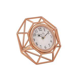 Creative Metal Table Clock Copper