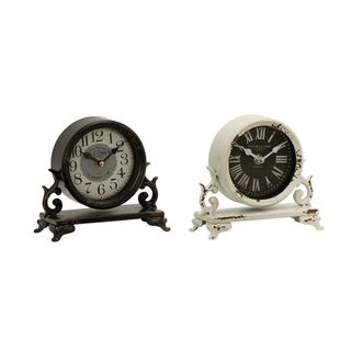 52565 Amazing Metal Table Clock 2 Assorted