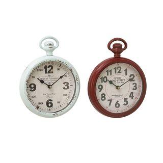 The Gray Barn Crow Haven Metal Wall Clock (Set of 2)