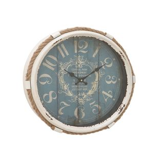 Havenside Home Buckroe Metal Rope Glass Wall Clock