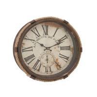The Gray Barn Jartop Trendy Metal Rope Glass Wall Clock