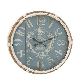Stunning Metal Rope Glass Wall Clock