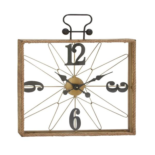 Marvelous Metal Glass Rope Wall Clock