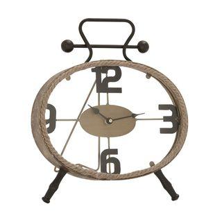 Carson Carrington Alavus Classy Metal Rope Clock