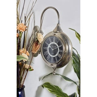 Adorable Stainless Steel Aluminum Double Wall Clock