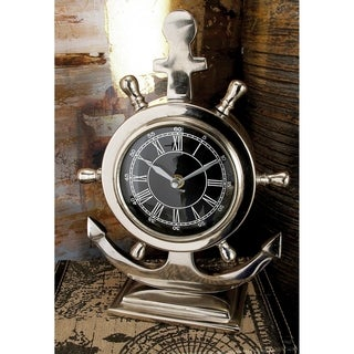 Charming Aluminum Stainless Steel Table Clock