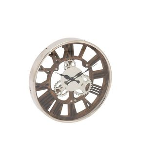 Carbon Loft Maunchly Stainless Steel Wood Aluminum Wall Clock
