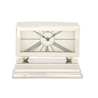Carson Carrington Alavus Aluminum Stainless Steel Table Clock