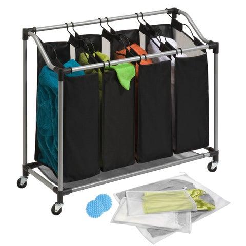 Honey Can Do LDYX05946 Quad Laundry Sorter and Bag Kit