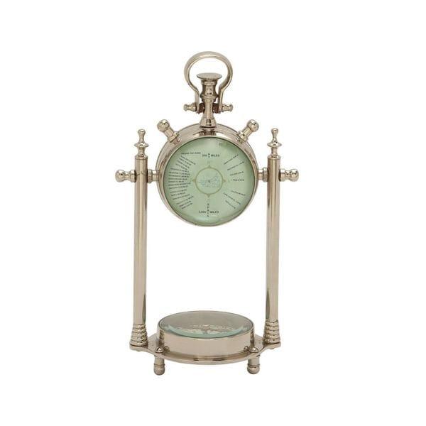 Smart Aluminum Glass Table Clock/Compass