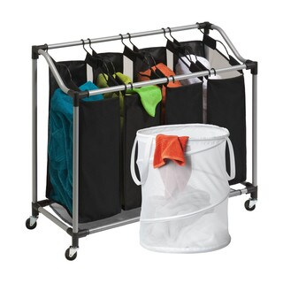 Honey Can Do LDYX05945 Quad Laundry Hamper and Pop-up Hamper