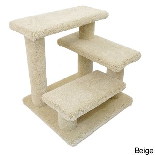 Crazy Pet Steps Carpet and Wood 21-inch Cat Climber (Option: Beige)