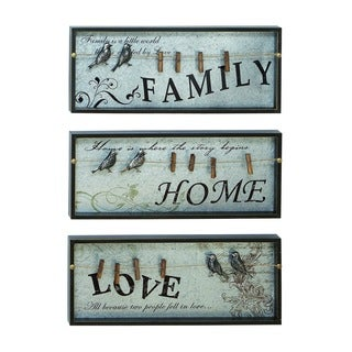 Inspirational Wall Plaque With Photo Clips