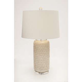 The Peasant Ceramic Crystal Table Lamp