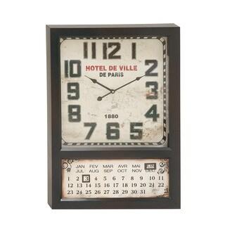 Captivating & Unique Styled Metal Calendar Wall Clock