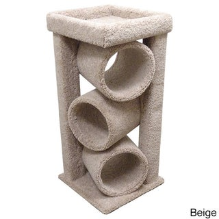 New Cat Condos Premier Triple Cat Tunnel (Option: Beige)