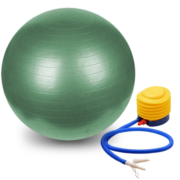 Burst Resistant Yoga Exercise Fitness Pilates Stability Ball with Pump